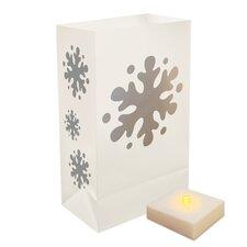 Battery Operated Snowflake Luminaria Kit (Set of 6)