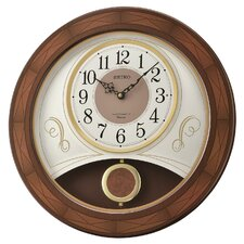 """Melodies in Motion Dixie Piano 17.75"""" Wall Clock"""