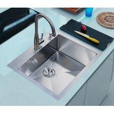 "Brendel 25"" x 22"" Overmount Single Basin Kitchen Sink"
