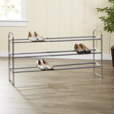 Wayfair Basics Expandable 3 Tier Shoe Rack