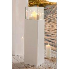 Windlicht Glossy aus Kunststoff / Aluminium-Verbund / Glas