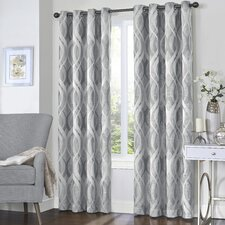 Nicholson Geometric Blackout Thermal Grommet Single Curtain Panel