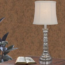 "Bolland Mercury Glass and Metal Column 21"" Table Lamp"
