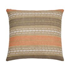 Abstract Aztec Square Embroidered Decorative 100% Cotton Throw Pillow