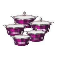 5 Piece Ceramic Round Casserole Set