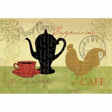 Morning Coffee Kitchen Mat