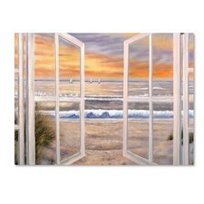 Elongated Window Painting Print on Canvas