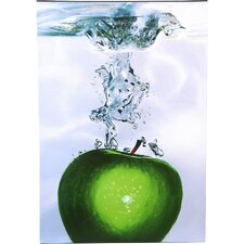 Apple Splash II Painting Print on Canvas