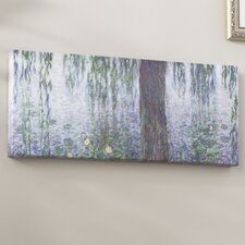 Waterlillies Morning by Claude Monet Painting Print on Wrapped Canvas