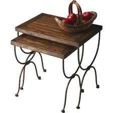 Black Raven 2 Piece Nesting Tables