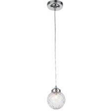 Cyprien 1-Light Glass Shade Globe Pendant