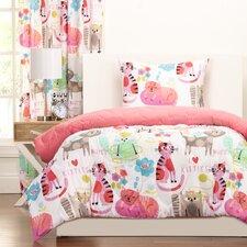 Crayola Purrty Cat Reversible Comforter Set