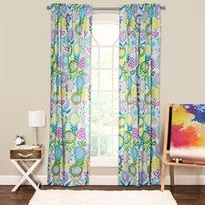 Crayola Pointillist Pansy Single Curtain Panel