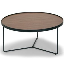 Ailsa Rimmed Round Wooden Coffee Table