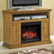 Lincolnville Traditional Wood Frame TV Stand with Electric Fireplace