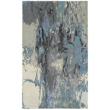 Wora Hand-Crafted Blue/Gray Area Rug