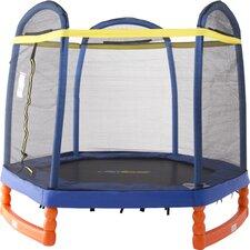 7' Super Trampoline Combo with Enclosure