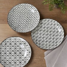 Cicero 3-Piece Ceramic Dinner plate Set