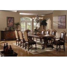 Burgundy Rectangular Dining Table