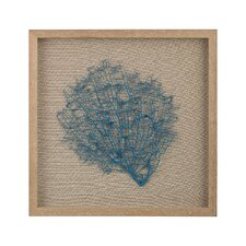 Sea Fan on Natural Linen Wall Décor