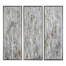 Shades of Bark Modern 3 Piece Framed painting Set