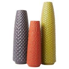 3 Piece Ceramic Harvest Vase Set