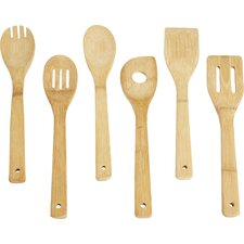 Wayfair Basics Bamboo 6 Piece Kitchen Utensil Set