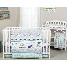 New Fish 5 Piece Crib Bedding Set
