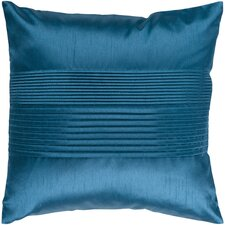 Grullo Solid Pleated Throw Pillow