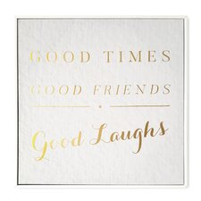 Good Times Framed Textual Art on Wrapped Canvas