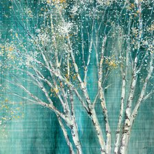 Blue Birch Framed on Canvas