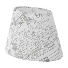 2-tlg. 25 cm Lampenschirm 1+1 Vintage aus Textil