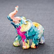 Rainbow Floral Elephant Figurine