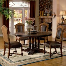 Burgundy Round Dining Table