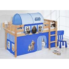 Hochbett Star Wars mit Vorhang und Lattenrost, 90 × 200 cm