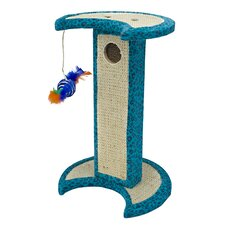 Crescent Moon Tower Corrugated Scratching Post