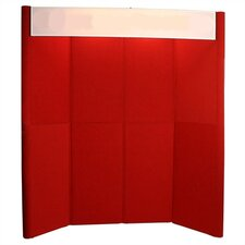 Hero H10 Full Height Exhibit Panel with Curved Edges and Backlit Header