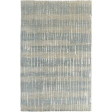 Sepviva Hand-Knotted Teal/Tan Area Rug