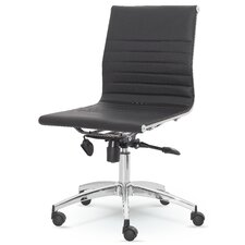 dynamic midback desk chair - White Armless Office Chair