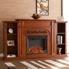 "Grandmasters 73"" TV Stand with Electric Fireplace"