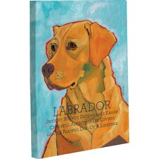 Doggy Decor Labrador 3 Painting Print on Wrapped Canvas