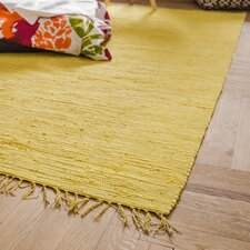 Handwoven Cotton Yellow Rug