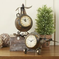 Earhart 2-Piece Clock Set