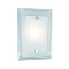 1-Light Square Wall Sconce with Glass Shade