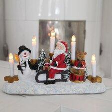 Santa on Sledge 5 Light Lamp