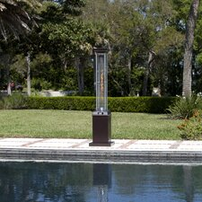 Hammered Square Flame 46,000 BTU Propane Patio Heater