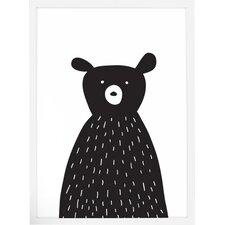 Cute Bear Framed Art