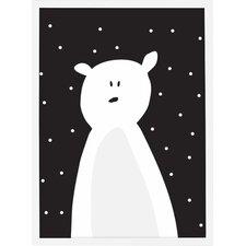 Cute Polar Bear Framed Art