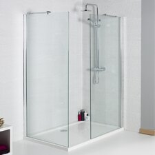 120cm W x 1cm D x 185cm H Rectangular Walk In Wetroom