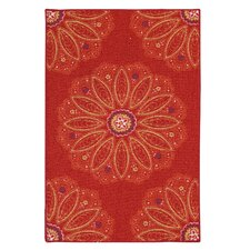Altman Red Area Rug